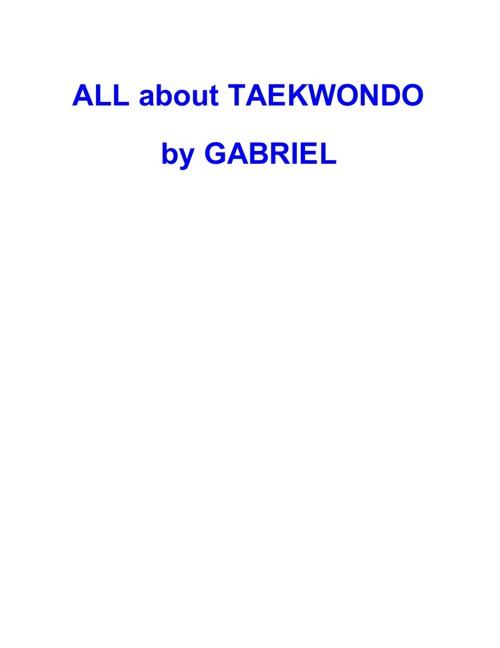 Taekwondo Gabriel