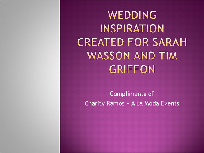 Wasson-Griffin Wedding
