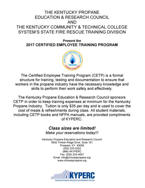 2017 CETP Program Mailer