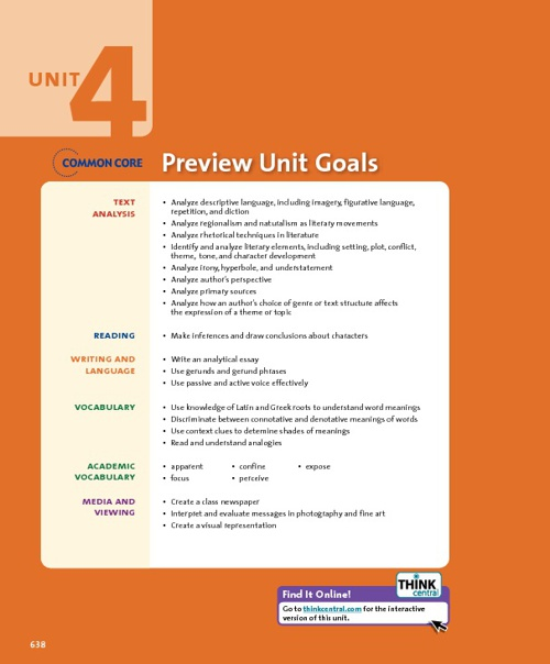 Unit 4 Introduction