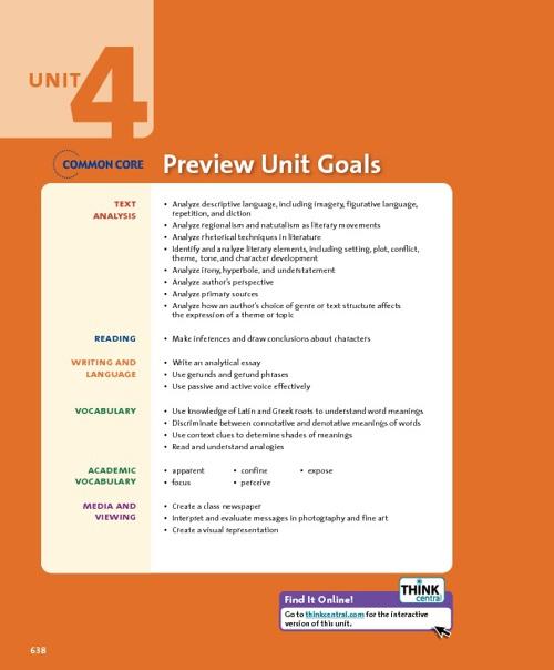 Unit 4 Introduction