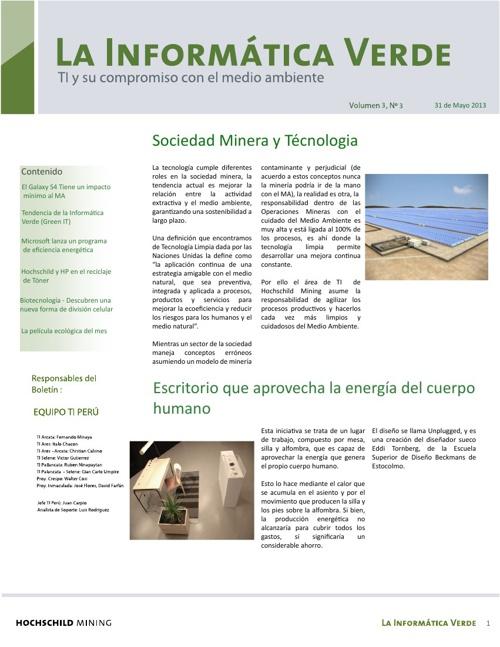 Boletín la Informática Verde - Mayo