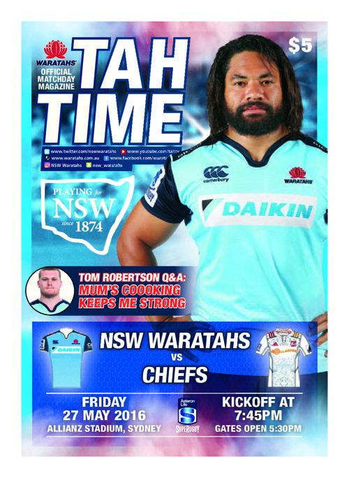 TAHS v CHIEFS MATCH PROGRAM