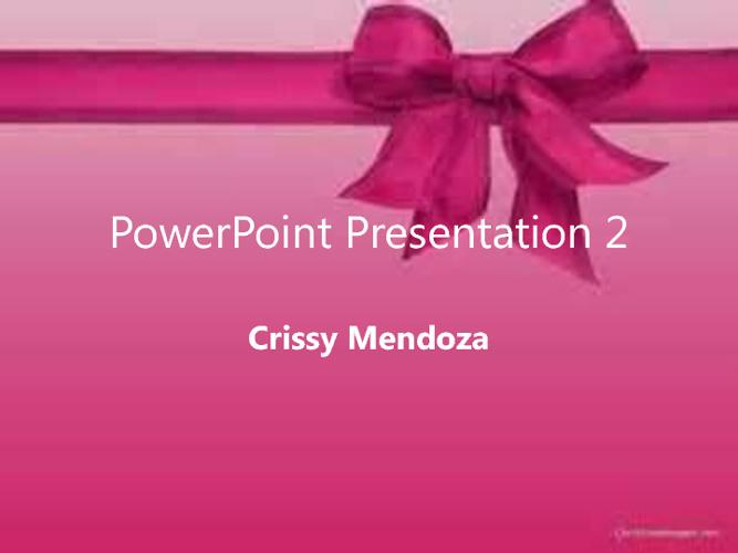 PowerPoint Workshop Activity 2