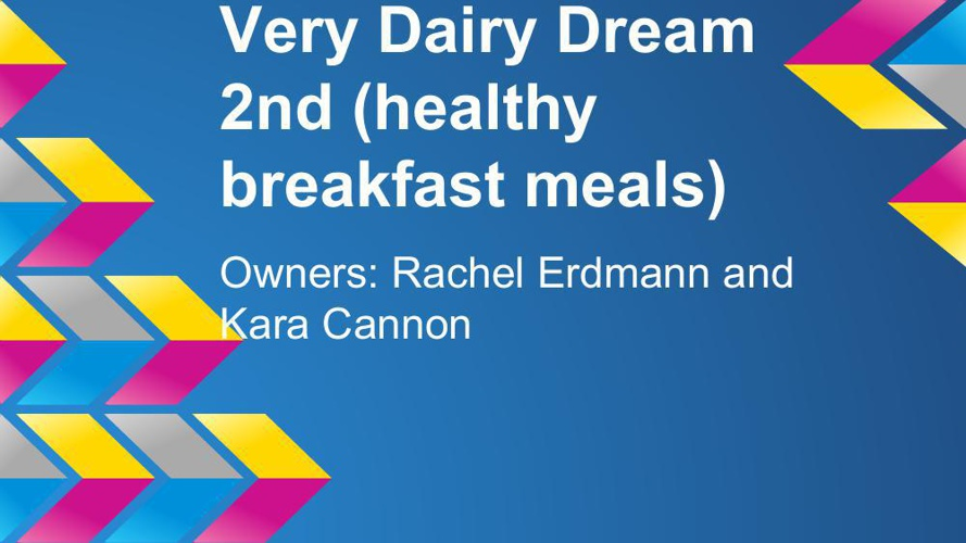 Very Dairy Dream Presentation by Rachel and Kara