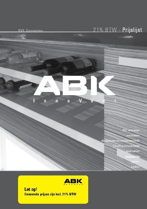 ABK InnoVent Accessoires prijslijst 2012
