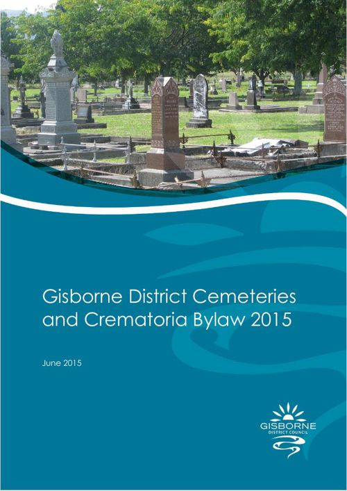 Gisborne District Cemeteries & Crematoria Bylaw 2015