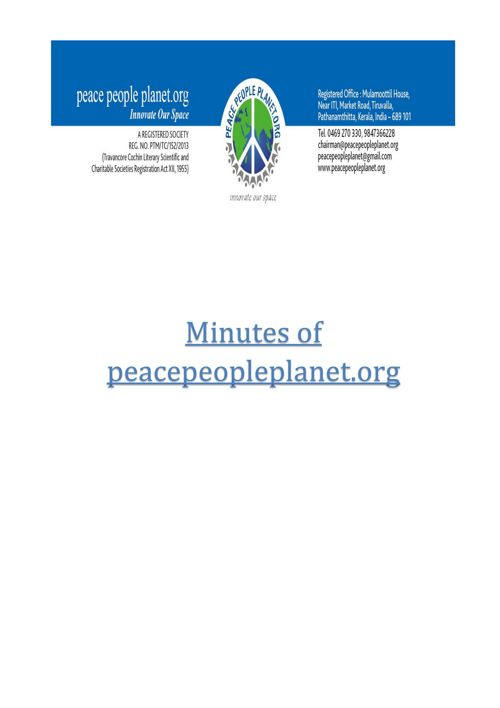 Minutes of peacepeopleplanet.org FINAL