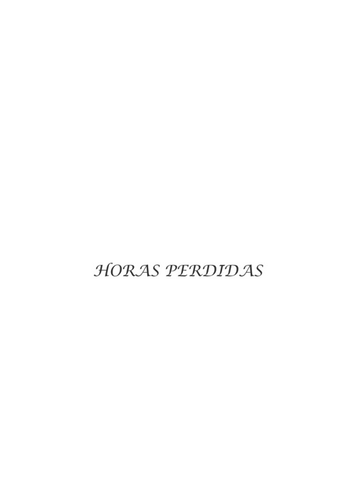 HORAS PERDIDAS
