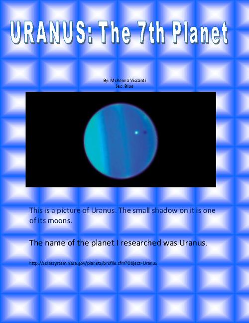 URANUS: the 7th planet