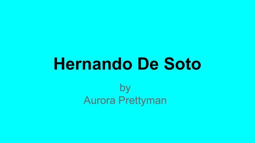 Hernado De Soto