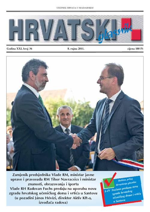 Hrvatski Glasnik  8. rujna 2011.