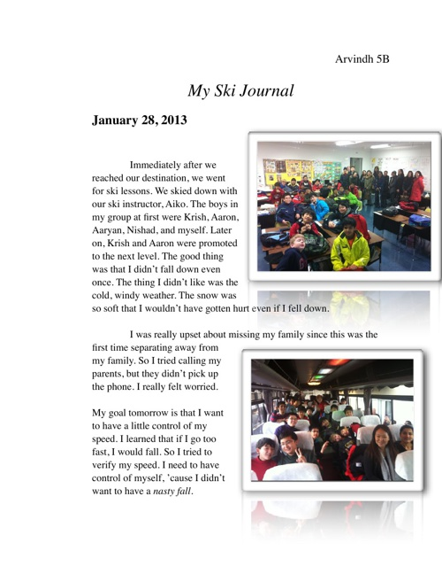 My Ski Journal
