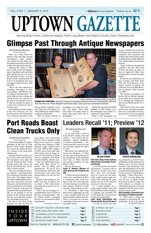 Uptown Gazette     January 6, 2012