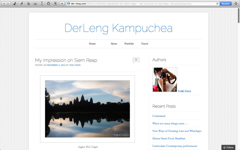 A blog post by Rithy Lomor Pich