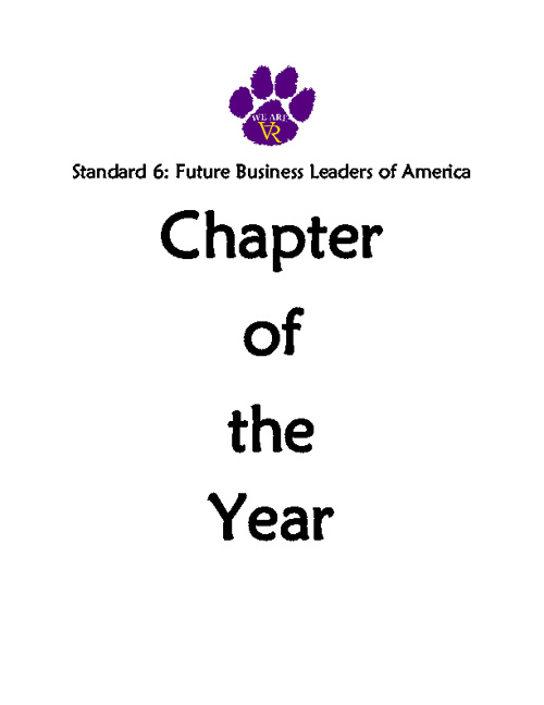 Standard 6: #49 Chapter of the Year