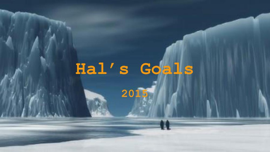 Goal Setting 2015 Hal Hall