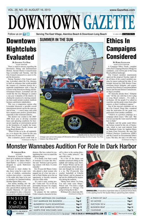 Downtown Gazette  |  August 16, 2013
