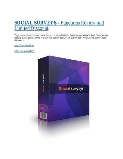Social Surveys review & massive +100 bonus items