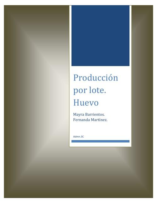 Producción de Huevo.