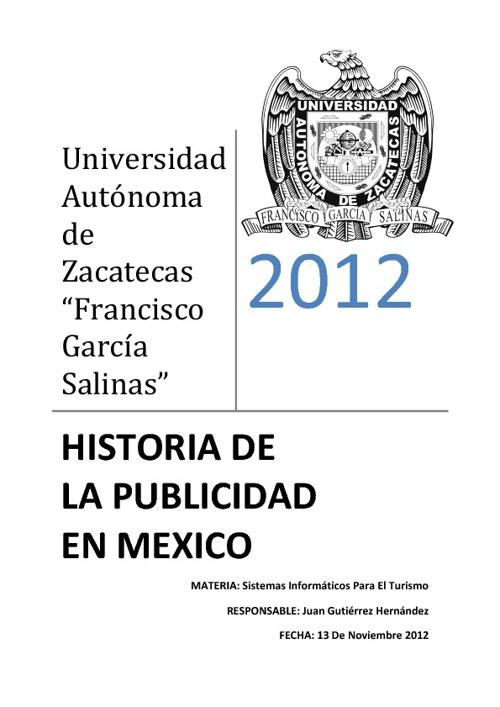 Historia de la Publicidad en México