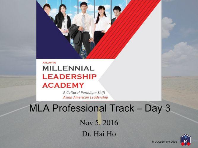 MLA Professional Track Day 3 - Publish