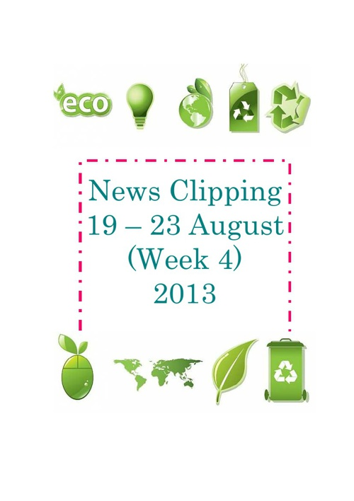 News clipping 19 - 23 August(week4) 2013