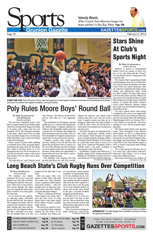 Gazette Sports | February 2, 2012