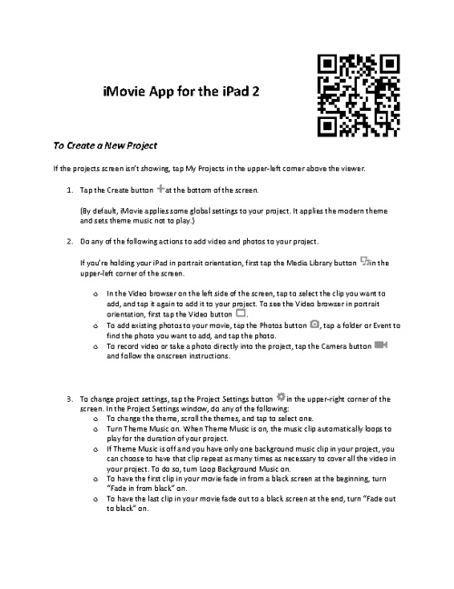 IMovie for IPad Help Book