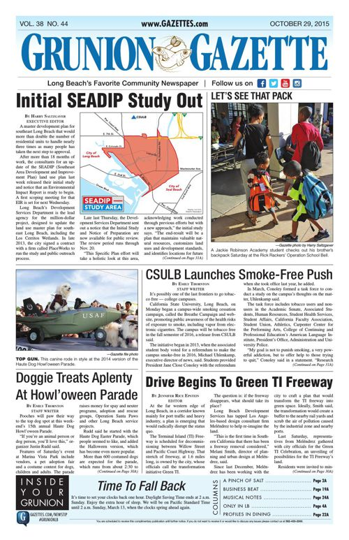 Grunion Gazette | October 29, 2015