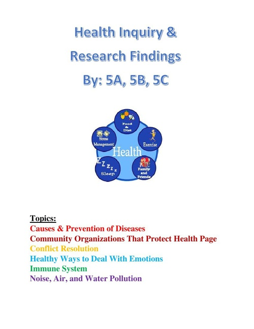 Health Inquiry and Research Findings 2014