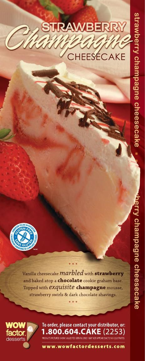 WOW! Factor Desserts Strawberry Champagne Cheesecake