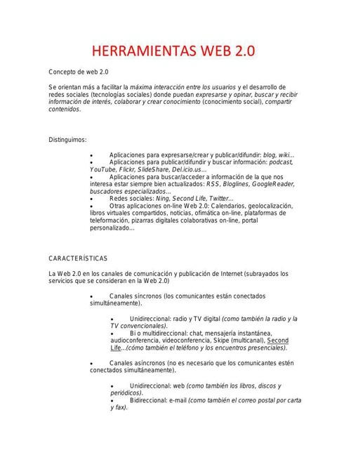 HERRAMIENTAS WEB 2 PDF ST word