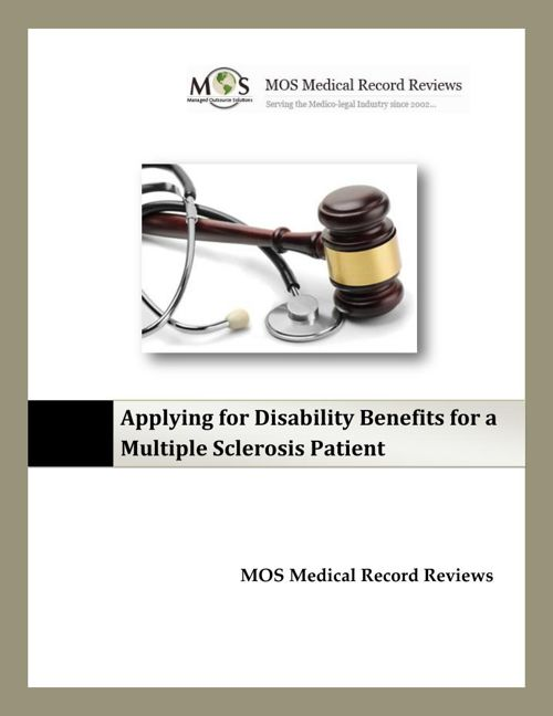 Applying for Disability Benefits for a Multiple Sclerosis Patien