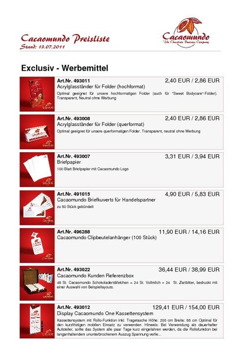 Cacaomundo Katalog 2011!!