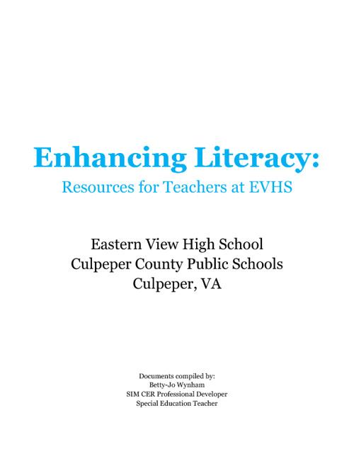 Enhancing Literacy @ EVHS