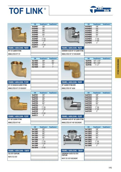 Effebi-fittings
