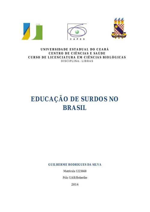 Educação de Surdos no Brasil