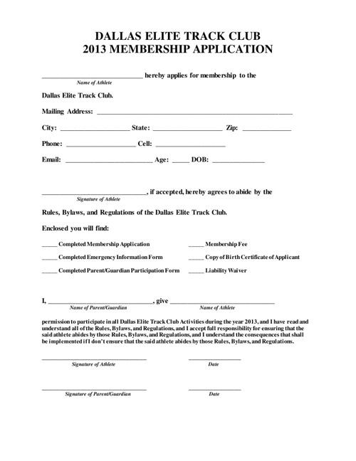 View & Download 2013 Membership Forms