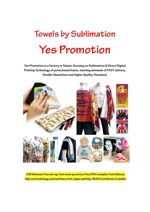 Microfiber Towels by Sublimation Yes Promotion