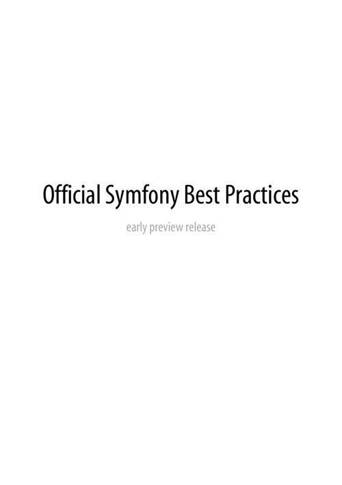 Symfony-best-practices