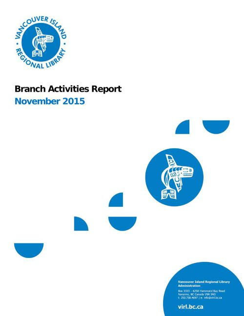 November 2015 Branch Activity Report