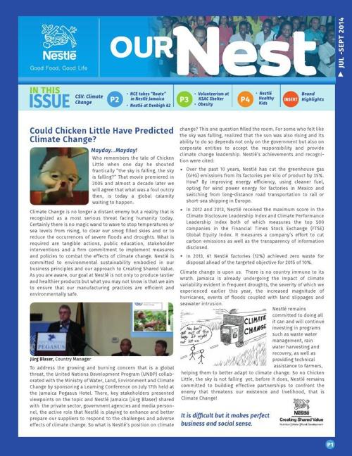 Our Nest Newsletter q3.October 2014