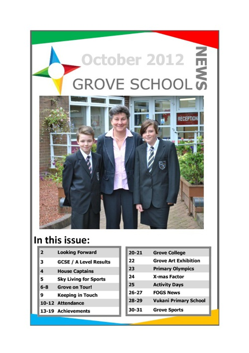 Grove October Newsletter