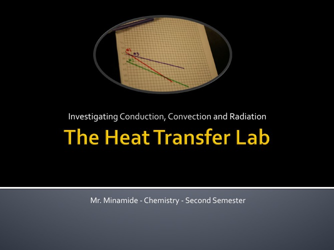 Chemistry Heat Transfer Lab