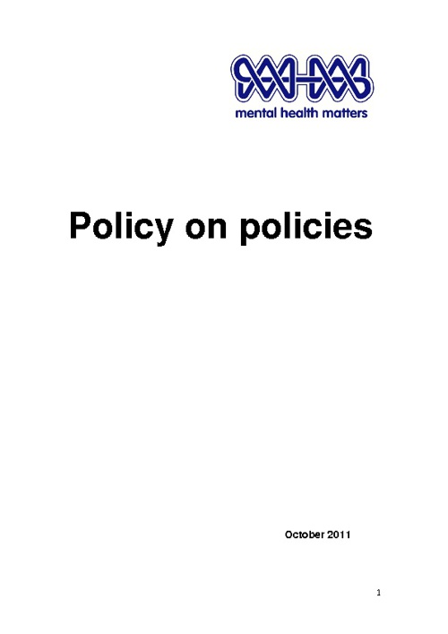 Policy on Policies