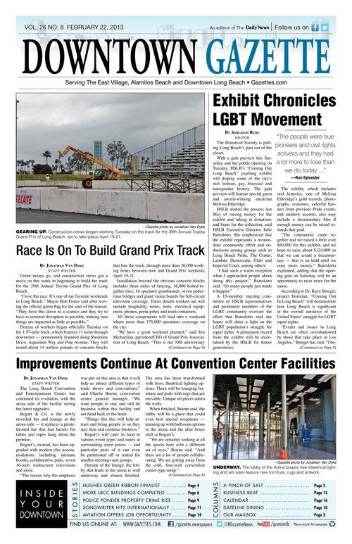 Downtown Gazette     February 22, 2013