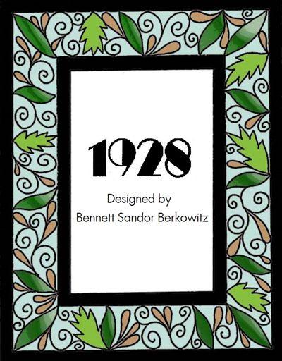 1928 Designed by Bennett Sandor Berkowitz