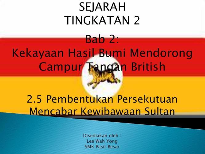 2.5 Pembentukan Persekutuan Mencabar Kewibawaan Sultan
