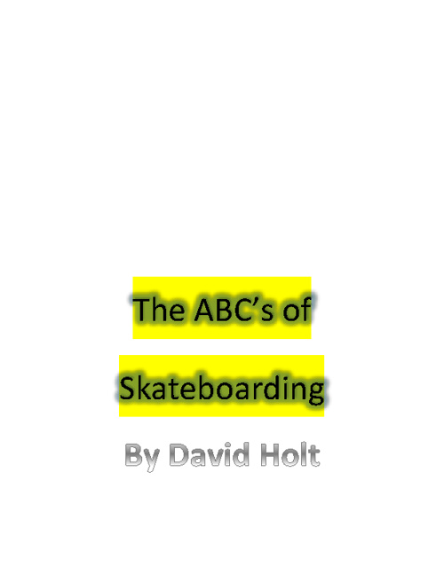 abc's of skateboarding